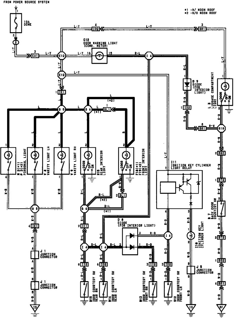 Interrior Light Diagram on Yamaha Warrior Fuse Location